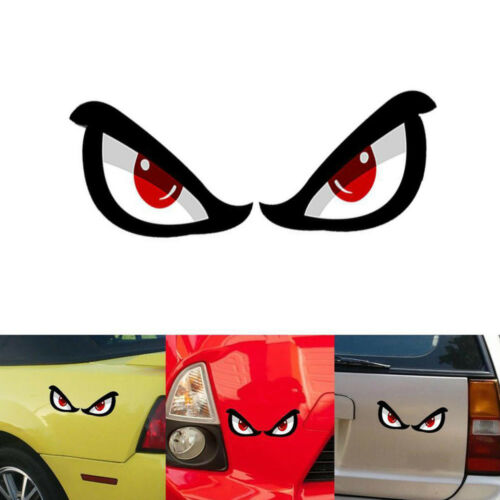 3D Shark Eyes Car Motorcycle Rearview Mirror PET Reflective Sticker Decal