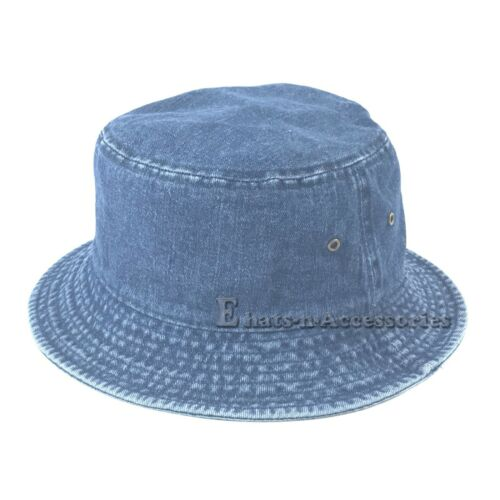 Unisex Headwear Fashion Denim Bonnie Bucket Safari Fishing Hiking Outdoor Hat
