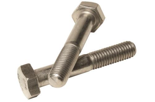 M6 x 30 Hexagon Head Bolt Part Thread Bolts A2 Stainless DIN 931-50 pack