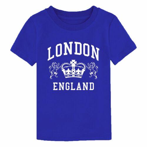 London England T Shirt Novelty Souvenir Birthday Gift Youth Boy Girl Kids Top