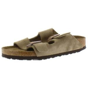 Birkenstock-Womens-Arizona-Taupe-Footbed-Sandals-Shoes-4-Narrow-AAN-BHFO-7837