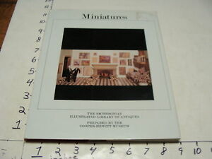 Vintage-Collector-book-MINIATURES-smithsonian-book-1983-127-pgs-CLEAN-w-jacket