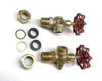 "Steamer Sight Glass Water Gauge Valve Set For 5/8"" Diameter Steamaster Boilers"