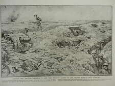 1916 BRITISH ATTACK AT COMBLES SOMME CLOSE ARTILLERY SUPPORT WWI WW1