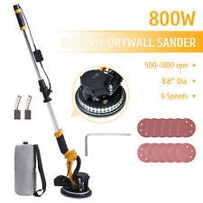 Preenex 800w Electric Sander W Extendable Handle 6 Speeds Led Lights Vacuum