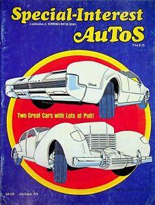 Vtg Special Interest Autos Magazine Jul/Aug 1976 Front Drive Classics m1362