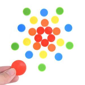 14PCS Plastic Poker Chips Casino Bingo Markers Token Fun Family Club Games