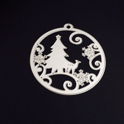 Christmas Silver Metal Cutting Dies Stencils Scrapbooking Embossing DIY Crafts