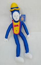 Cirque Du Soleil Clown Doll Soft Plush Cuddly Toy Teddy with Tag Blue Clown