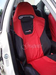 Honda Civic Type R Ep3 Recaro Seats Cover 1 Pc Red Black Yellow Bicolour Ebay