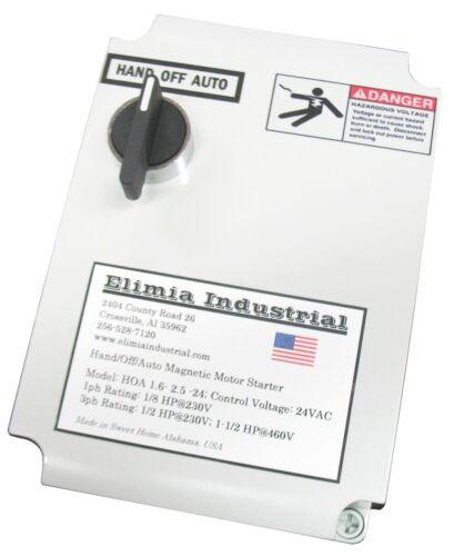 Elimia HOA 5.5-8-120LC 5 HP 480V or 2 HP 230V Magnetic Motor Starter Nema 4X