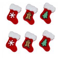 Vestido disfraz botones Navidad Medias grandiosos para tarjetas y manualidades