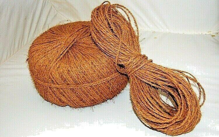 100% NATURAL ORGANIC Coconut Husk Coir Ropes Handmade String Rope/ Eco Friendly