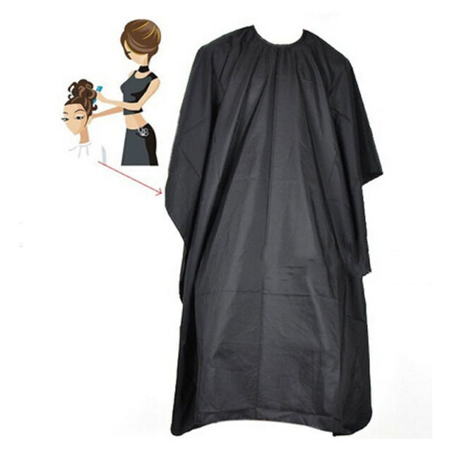 Black Pro Salon Hair Cut Hairdressing Hairdresser Barbers Cape Gown Adult Cloth