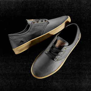 Emerica-Shoes-Romero-Laced-Black-Gold-US-SIZE-Skateboard-Sneakers