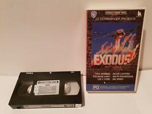 Exodus-Vhs-Warner-Home-Video-Paul-Newman-All-Original-LIKE-NEW