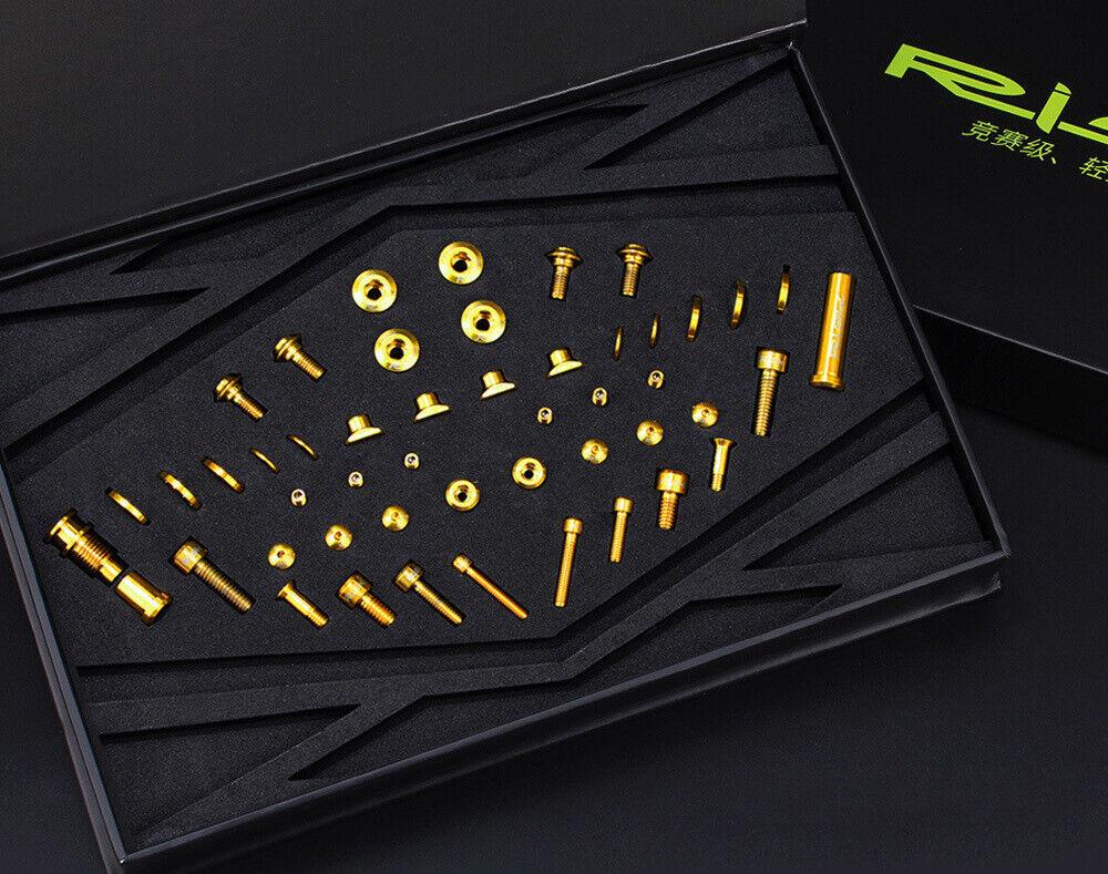 49pcs Set RISK  Titanium Bicycle Screws Bolts For UT R8000 Bike Derailleur System  classic style