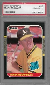 1987-Donruss-46-Mark-McGwire-Oakland-A-039-s-PSA-8-NM-MT