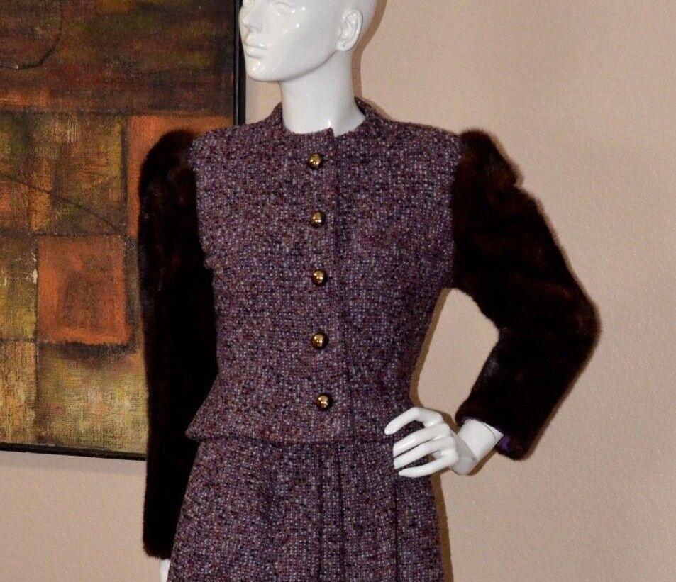 Arnold Scaasi Couture Stunning Vintage Mink Cropp… - image 5
