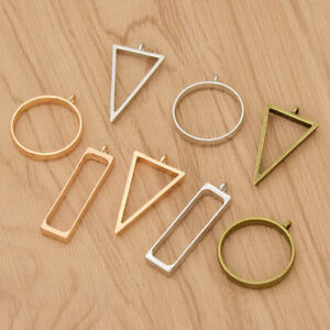 10PCS-Hollow-Metal-Frame-Pendant-Necklace-Bracelet-Jewellery-Making-Supplies-DIY