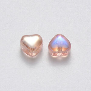 NEW Rose Gold Sparkly Shiny Clear Crystal Charm European Bracelet Spacer Bead