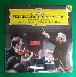 Details about Brahms Violin Concerto Deutsche Grammophon LP Kremer  Bernstein W German Pressing