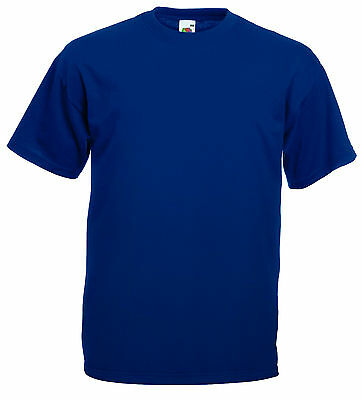 T-SHIRT UOMO VALUEWEIGHT  FRUIT OF THE LOOM MANICHE CORTE VARI COLORI