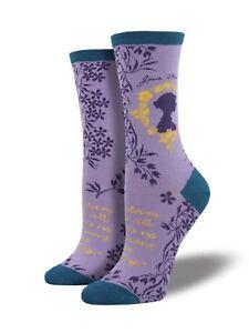 Purple-Jane-Austen-Author-Book-Reader-Crew-Socks-Socksmith-Christmas-Gift-Xmas