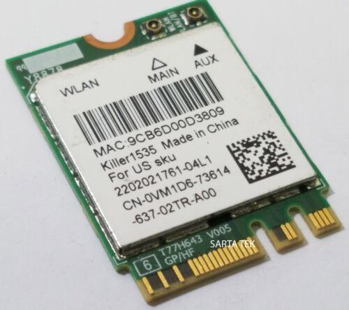 Dell OEM VM1D6 Killer 1535 Atheros QCNFA364A 802.11ac Bluetooth NGFF