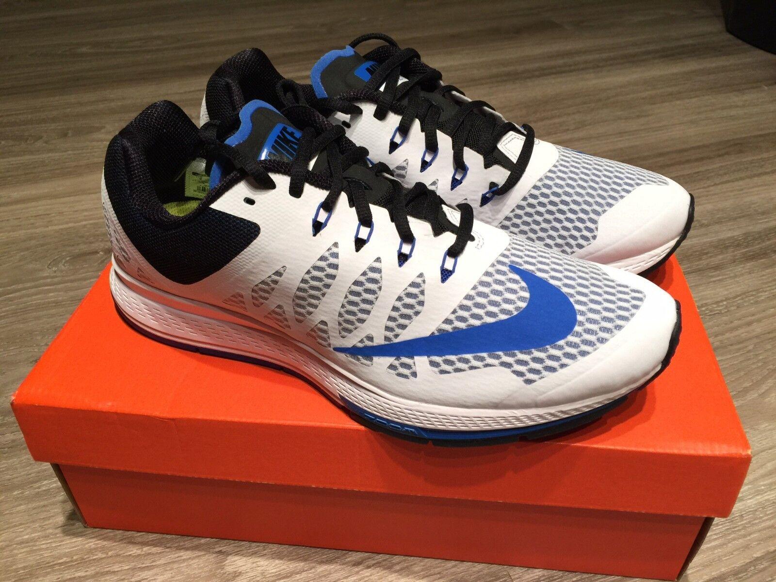 Nike zoom elite 7 men running schuhe Weiß/hyper cobalt-schwarz 654443-100 nib 110