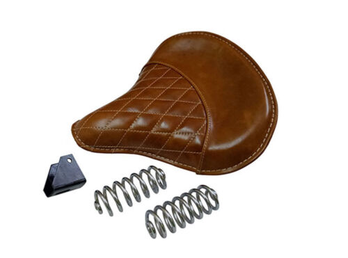 Royal Enfield Bullet Bike Leather Front Tan Color Seat With Spring 350cc 500cc