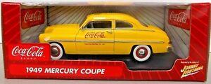 Rare 1949 Mercury Coupe Coca Cola - Car Miniature USA 1:18 Johnny Lightning