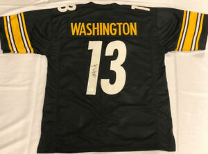 size 40 b4bbf 90ce4 Details about James Washington Signed Steelers Throwback Jersey (JSA  Holo)2018 2nd Rd Pick W R