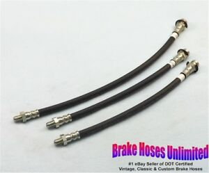 BRAKE-HOSE-SET-Oldsmobile-Six-60-amp-70-1939-1940