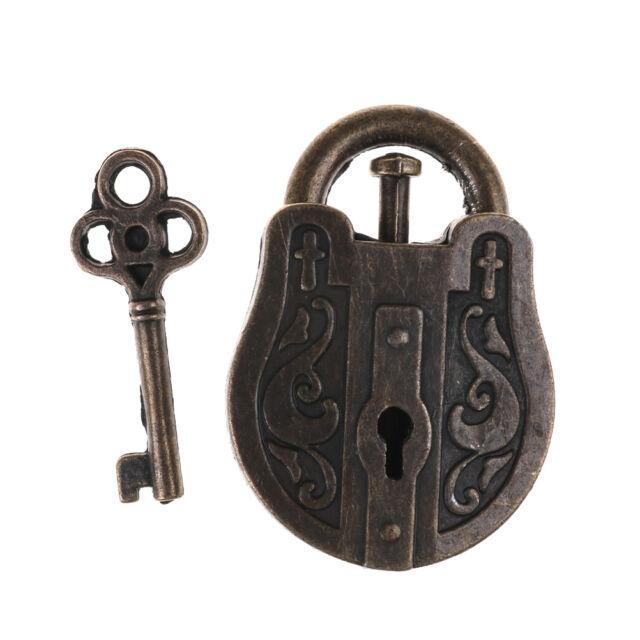 Vintage Metal Cast God Lock Key Puzzle Toy IQ&EQ Mind Brain Teaser Kid Gift JPL