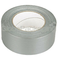 1 ROLL OF SILVER DUCT DUCK GAFFA GAFFER CLOTH TAPE 50mm x 50M STRONG WATERPROOF