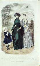 GRAVURE de MODE ANCIENNE-1849-04-MAGASIN des DEMOISELLES