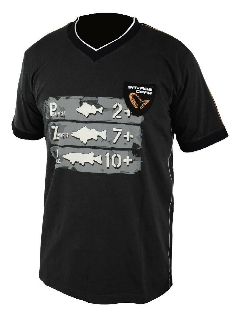 SAVAGE GEAR Freshwater Tee Short Sleeve -Größe wählbar- Kurzarm T-Shirt