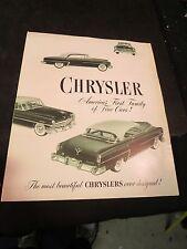 1953 Chrysler Brochure