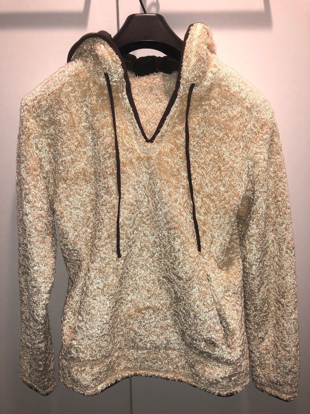 Mountain Hardwear Womens Small Pullover Poodle Fleece Hoodie Soft Plush Cream