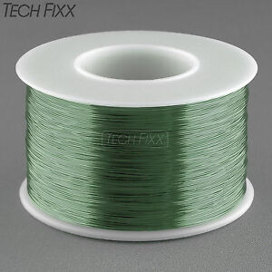 Magnet-Wire-34-Gauge-AWG-Enameled-Copper-3930-Feet-Coil-Winding-155C-Essex-Green