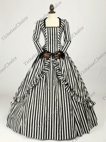 Victorian Dresses, Clothing: Patterns, Costumes, Custom Dresses    Victorian Gone with the Wind Gown Steampunk Dress Witch Vampire Halloween N 321 $165.00 AT vintagedancer.com