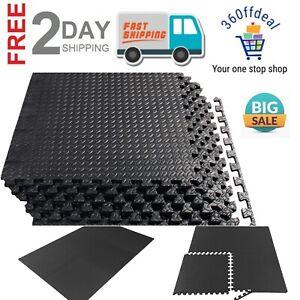 GYM RUBBER FLOORING Tiles Garage Home Fitness Exercise  Workout Floor Mat