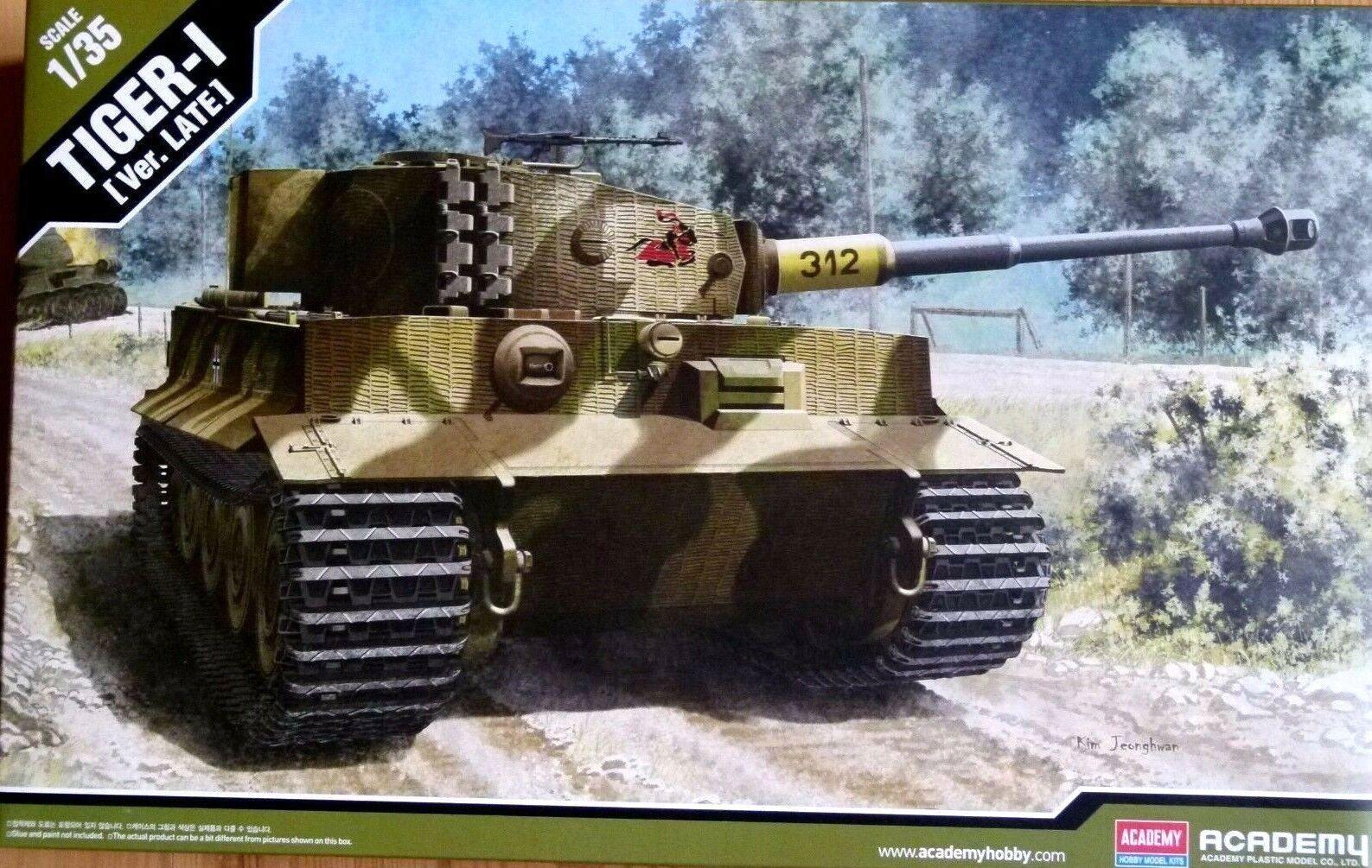 Academy 1 35 Tiger-I Late Version German Heavy Tank Model Kit