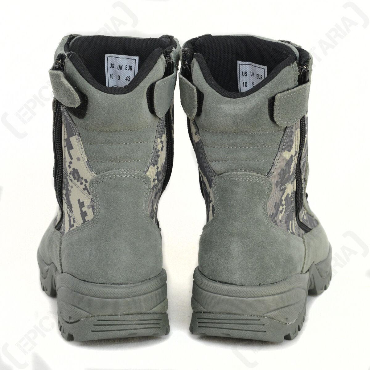 Digital Camuflaje Militares-2 funcional Botas Militares-2 Camuflaje cremalleras-MILITAR AIRSOFT 96df38