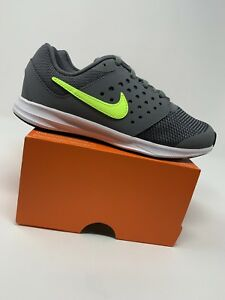75776f0083c9e Image is loading BOYS-Nike-Downshifter-7-Shoes-Gray-amp-Neon-