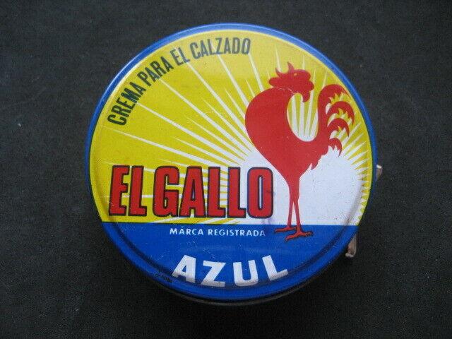 CAJA METAL EL GALLO (AZUL). CREMA CALZADO, ZAPATOS, BETUN - SHOE POLISH