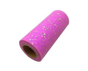 "6/"" Glitter Sequin Tulle Roll 25 Yards Tutu Skirt Shabby Vintage Wedding Favour"