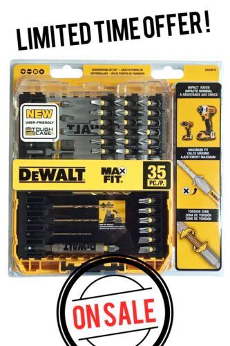 DeWALT 35-PC SCREWDRIVING BIT SET Screw Bits Impact Drive Guide Nut Driver Drill