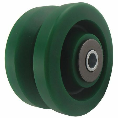 Zoro Select 3G307 Caster Wheel,Polyurethane,4 In.,300 Lb.
